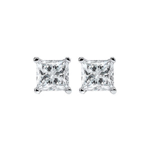 14kw prong diamond studs 3/4ct, fr1269-4wd