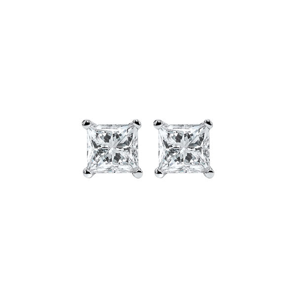 14kw prong diamond studs, fr1226-4yd