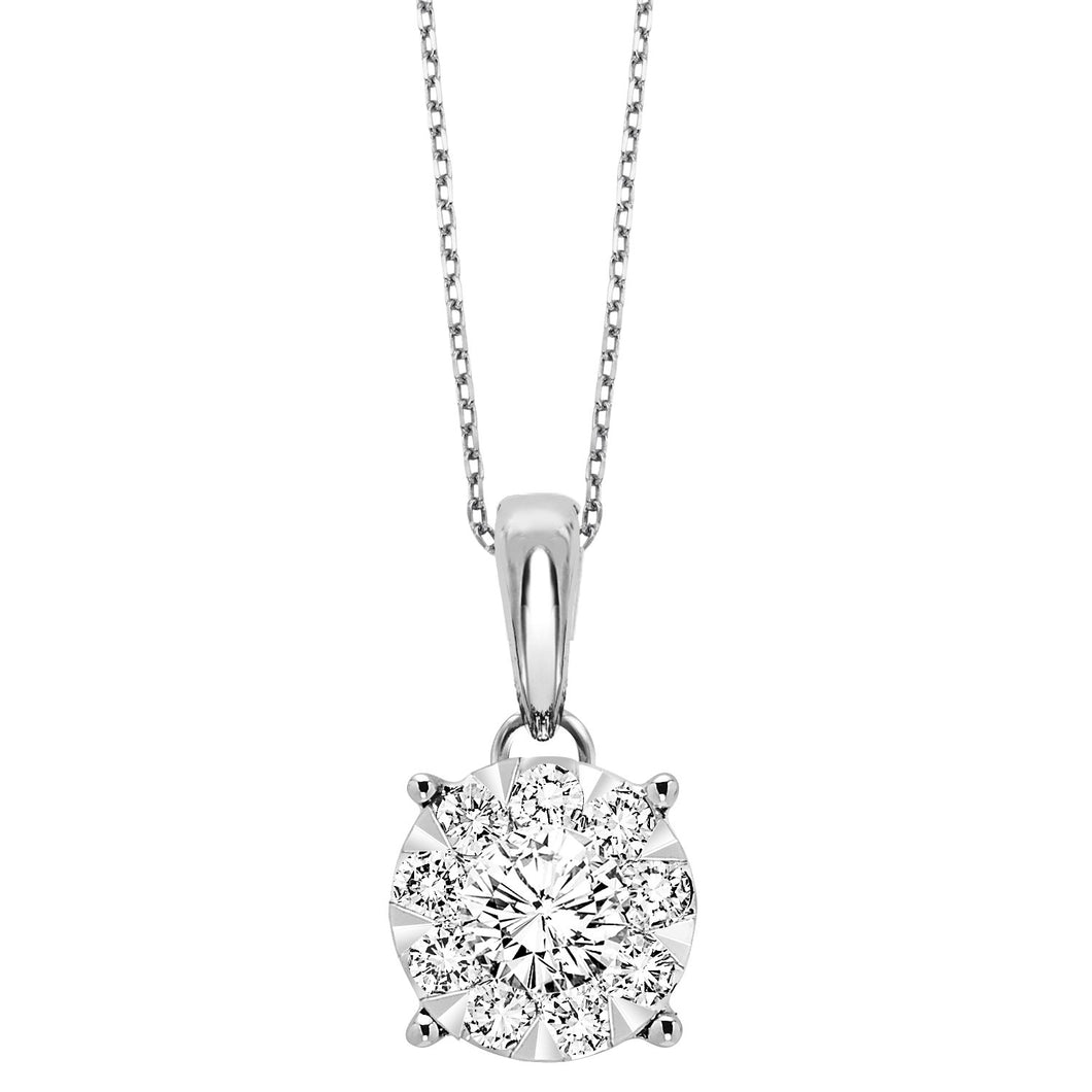 14K Diamond Pendant 1/2ctw, Fernbaugh's, PD10256-4WB