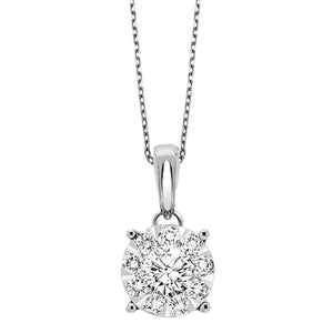 14K Diamond Pendant 3/4ctw, Fernbaugh's, PD10257-4WB