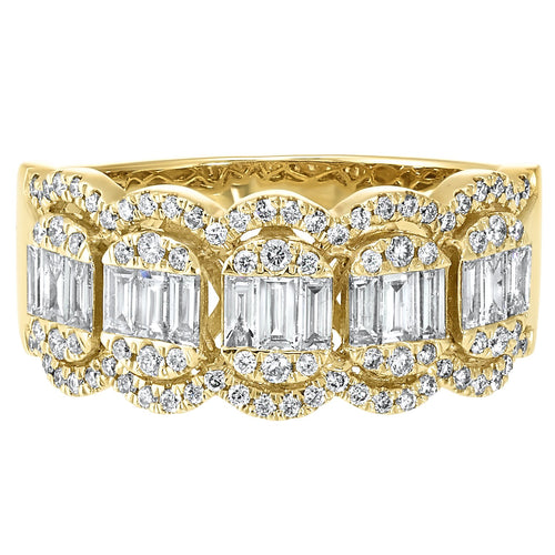 14K YG Diamond Ring 3/4 ctw, Fernbaugh's, RG10281-4YC