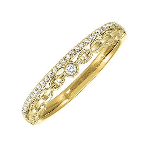 14K Diamond Ring 1/10 ctw, Fernbaugh's, RG10611-4YC
