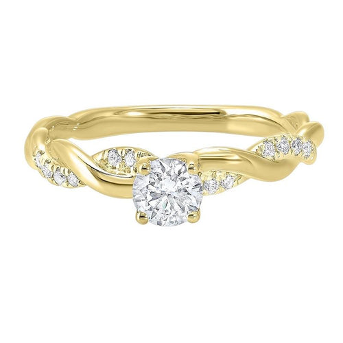 14ky c&c micro prong diamond ring 1/2ct, rg10233-4wd