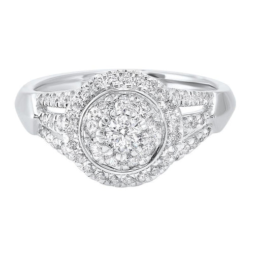 14kw c&c micro prong diamond ring 3/4ct, wb5779ir-4wc