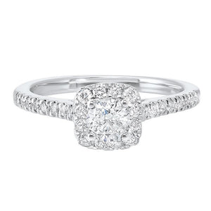 14kw c&c split prong diamond ring 3/4ct, wb5774ir-4wc