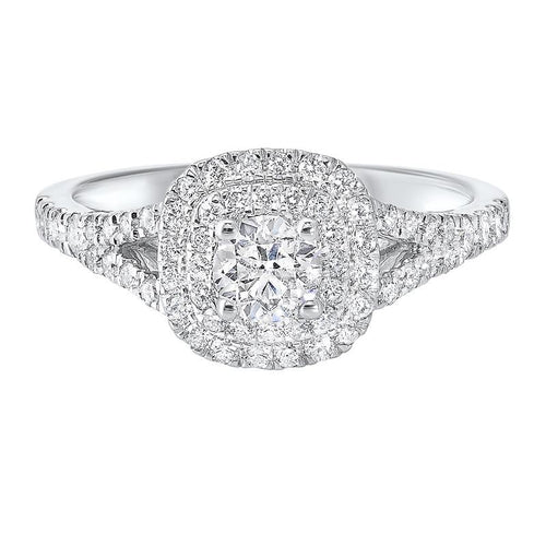 14kw c&c split prong diamond ring 7/8ct, ejr1001-4wc