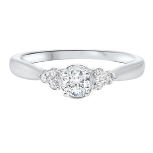 14kw c&c prong diamond ring 1/3ct, rg71815-4wd