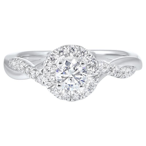14kw c&c micro prong diamond ring 3/4ct, rg10280-4wd