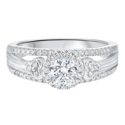 14kw c&c split prong diamond ring 7/8ct, ejc1002-4wc