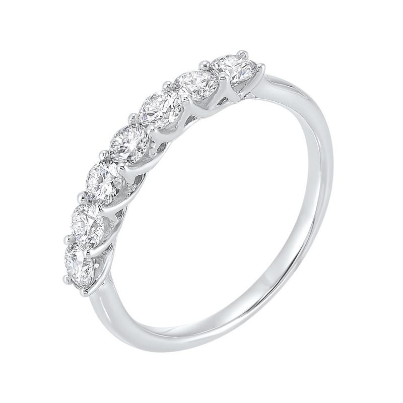 14kw 7 stone shared prong diamond band 3/4ct, fe4066-4wcr