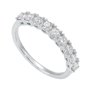 14kw 9 stone prong diamond band 3/4ct, fe4062-4wcr