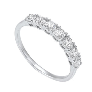 14kw 7 stone prong diamond band 3/4ct, rpt710r-4wcr
