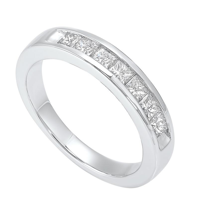 14kw 7 stone channel diamond band 3/4ct, egr40-4w