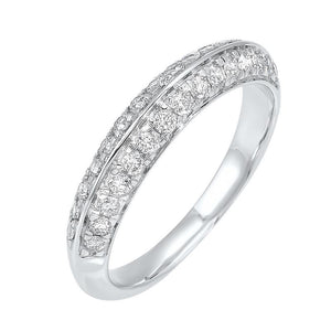 14kw micro prong diamond band 1/3ct, ewr40-4w