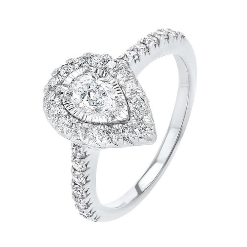14kw tru ref pear halo prong ring 1ct, rg10060-1yd