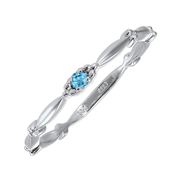 10kw mix prong blue topaz band, rg71567-4wc