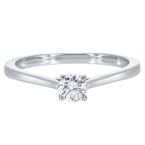 14kw solitaire prong diamond ring 1/3ct, pd10417-4wf