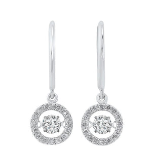 14kw rol halo prong diamond earrings 3/4ct, rg10061-1wd