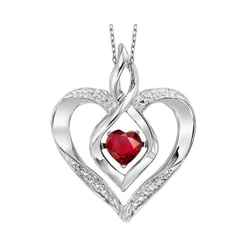 ss rol prong garnet necklace 1/250ct, ewo64-4w