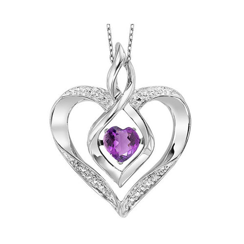 ss rol prong amethyst necklace 1/250ct, eeo53-4w