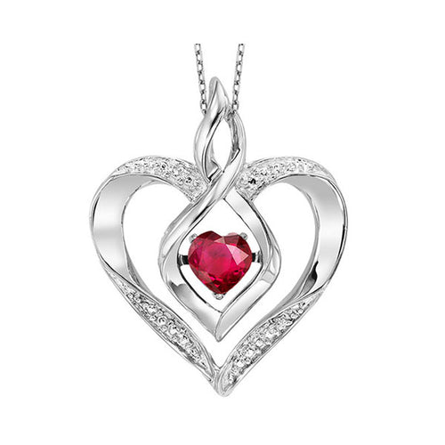 ss rol prong ruby necklace 1/250ct, eeo64-4w