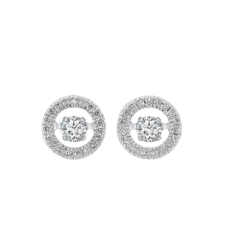 14kw rol halo prong diamond earrings 1/4ct, rg10058-1wd