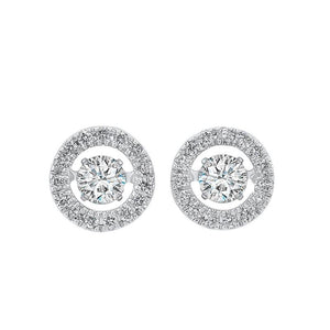 14kw rol halo prong diamond earrings 1/2ct, rg10058-4wd