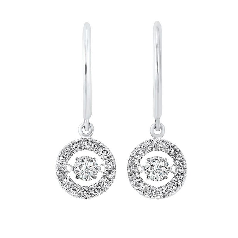 14kw rol halo prong diamond earrings 1ct, rg10061-4wd