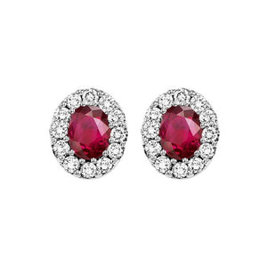 14kw color ens halo prong ruby earrings 1/5ct, rg68799-4wc