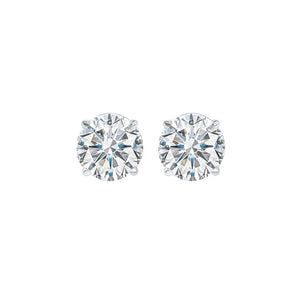 14kw prong diamond studs 5/8ct, fr1083-4yd