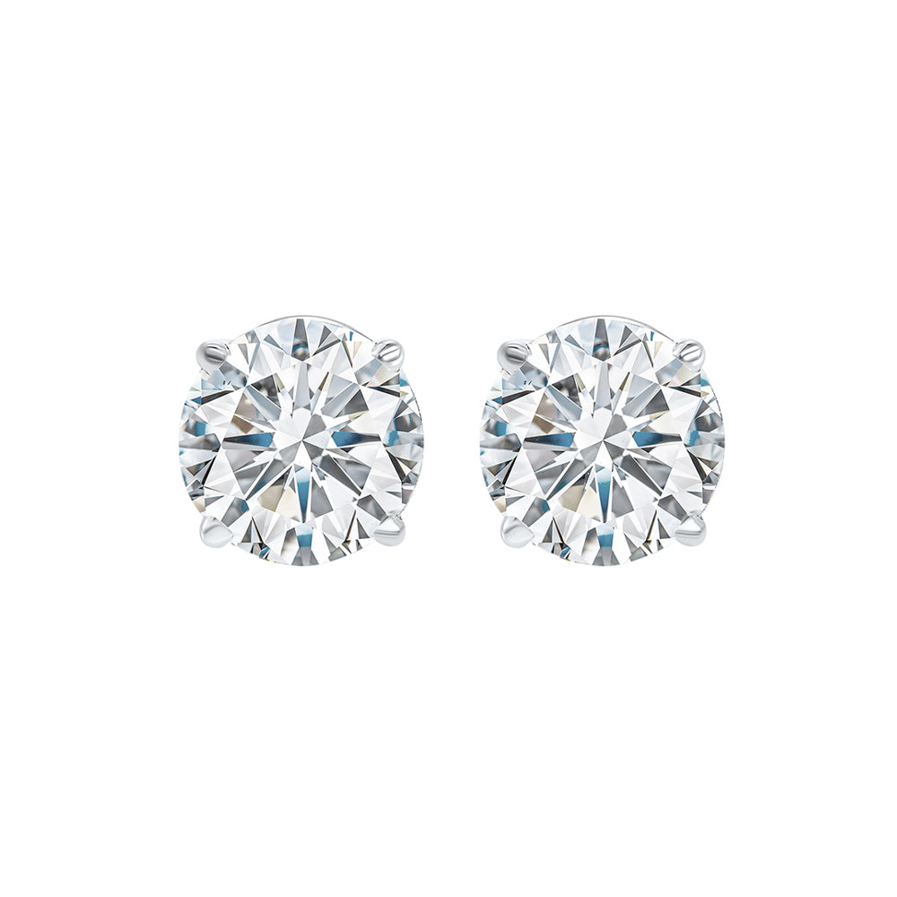 14kw prong diamond studs 1ct, fr1239-4pd
