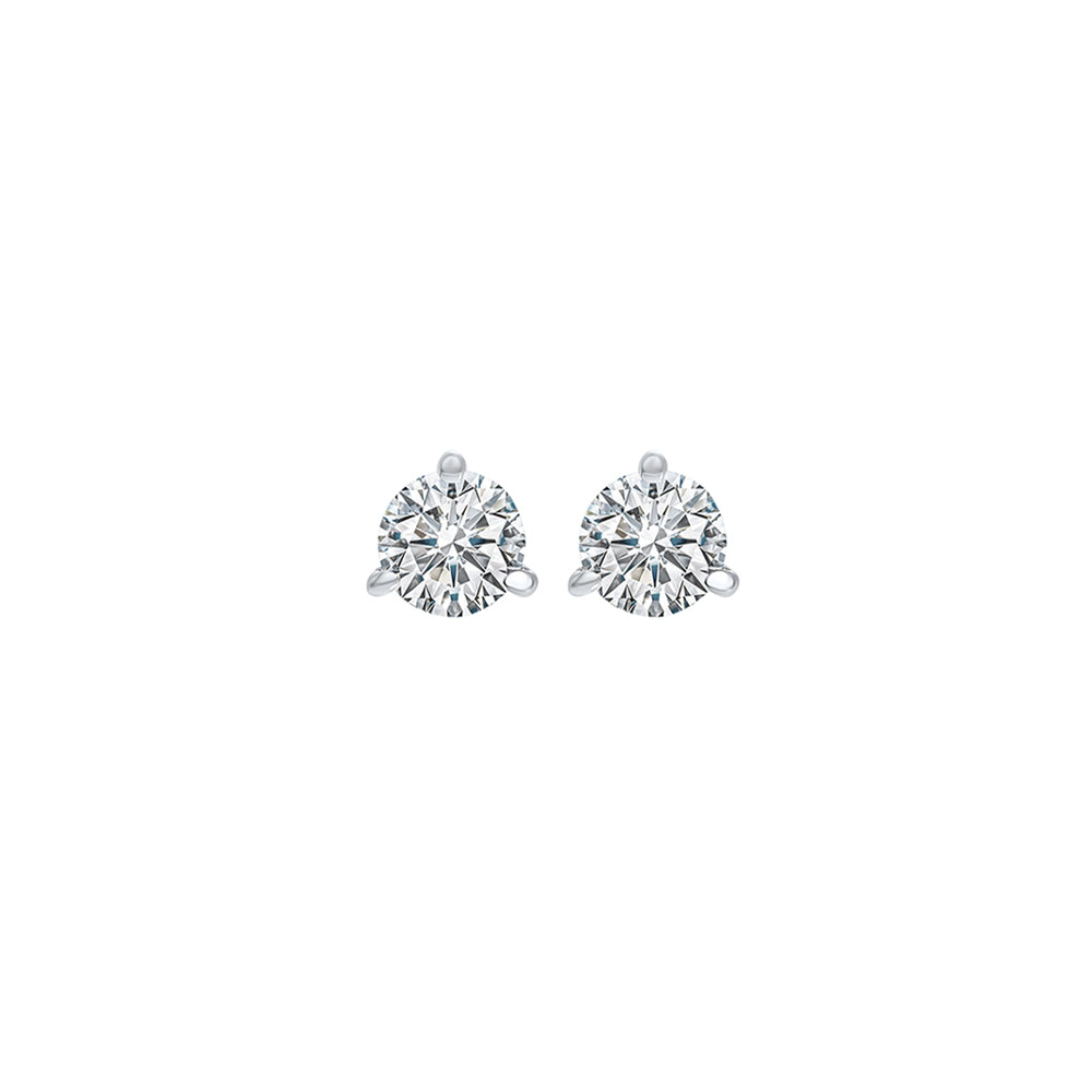 14kw prong diamond studs 1/10ct, fr1312-4wdb