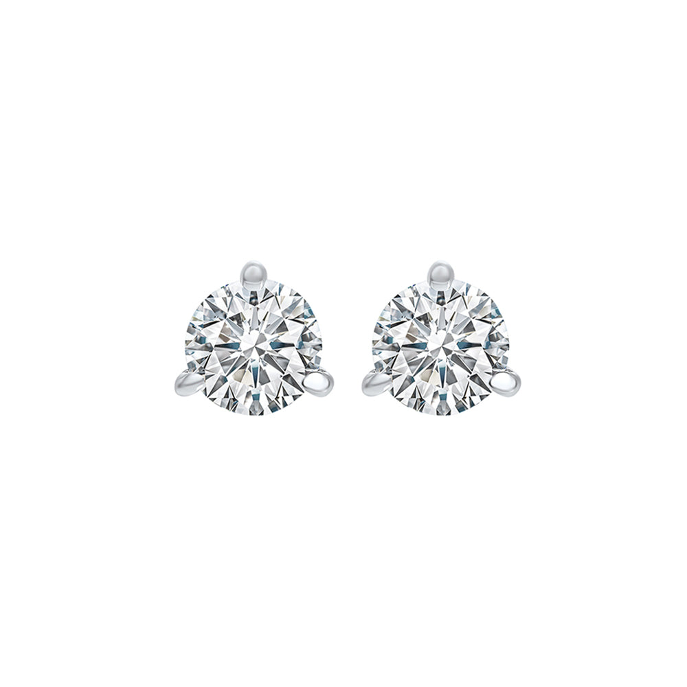 14kw prong diamond studs 1/2ct, fr1240-4yd