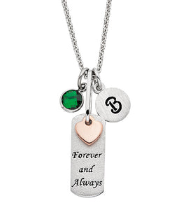 "Mommy Chic ""Forever and Always"" Pendant Rectangle"