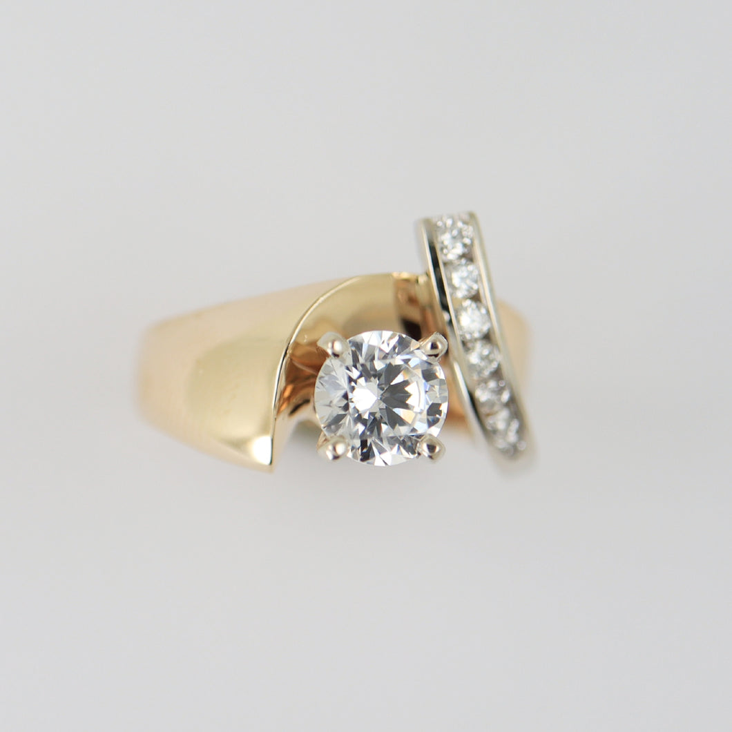 1.00 Carat Two Tone Fashion Ring