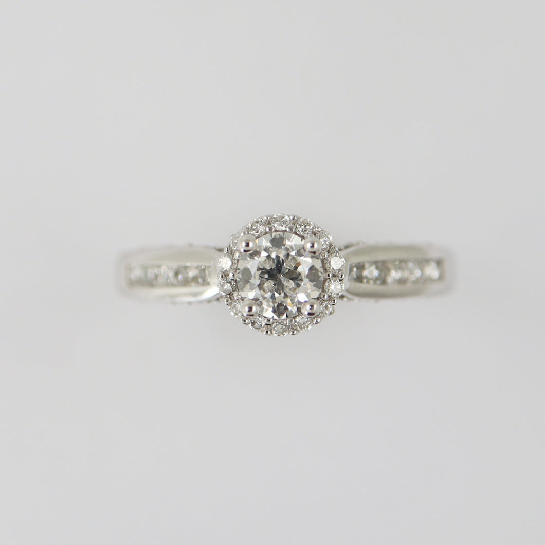 1.07 Round Halo Engagement Ring