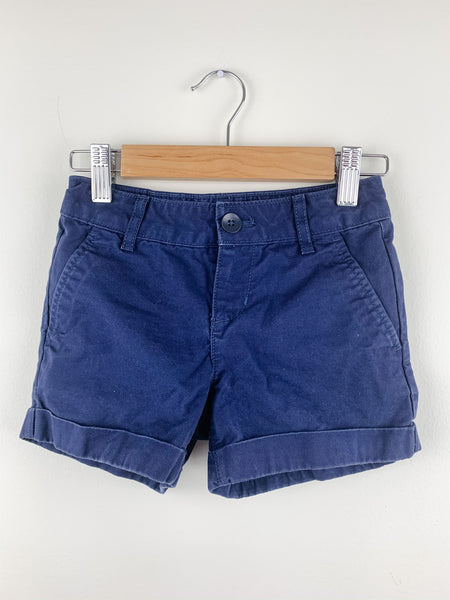 GAP Kids Girls Navy Cotton Twill Shorts 5