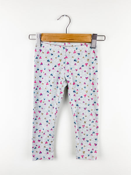 Jumping Beans Toddler Girl Heart Leggings 3T