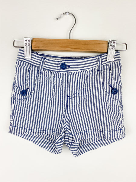 Carters Girls Shorts Blue/White Seersucker Shorts 5