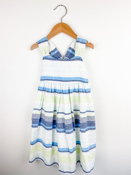 Gymboree Toddler Girl Linen Striped Dress 5T