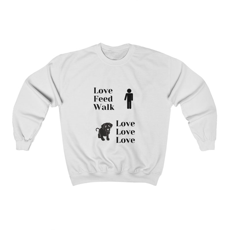 Love Feed Walk Unisex Crew Neck Sweat Shirt