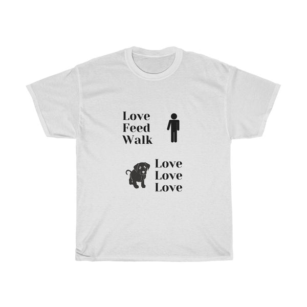 Love Feed Walk Unisex Heavy Cotton T Shirt