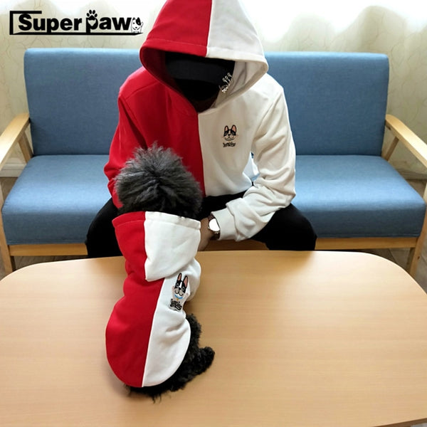 Fashion Dog Hoodie Parent With Human Coat