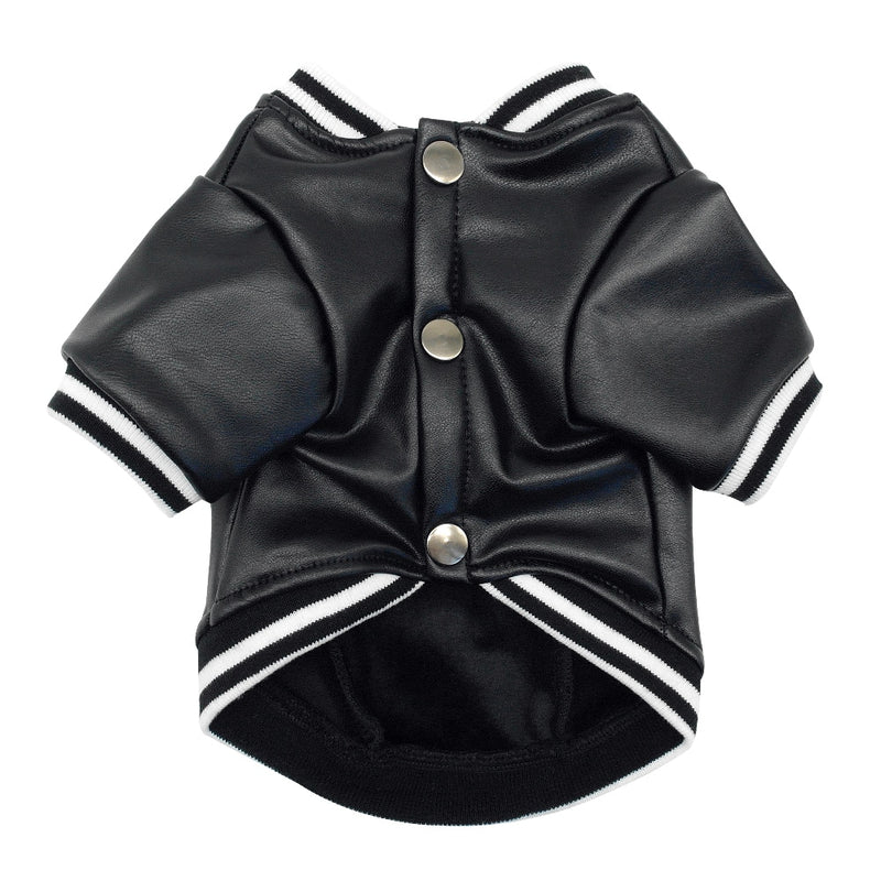 Black Leather Dog Jacket