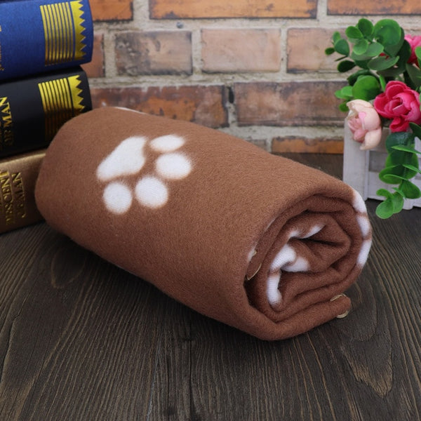 Soft and Warm Paw Print Dog Blanket Soft Warm