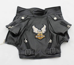 Eagle Design PU Leather Coat All Sizes