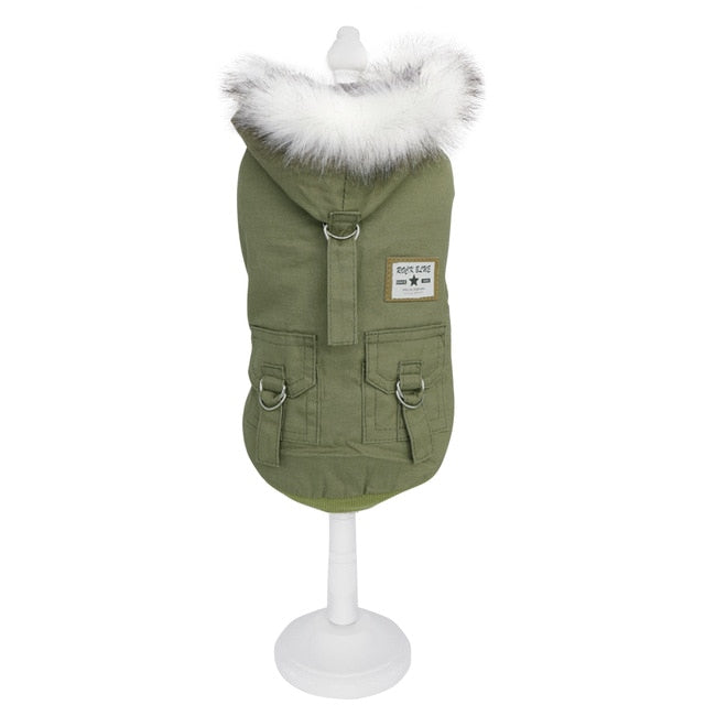 Winter Hooded Dog Parker Coat