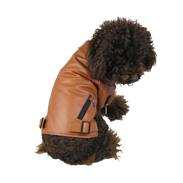 PU Leather Dog Coat