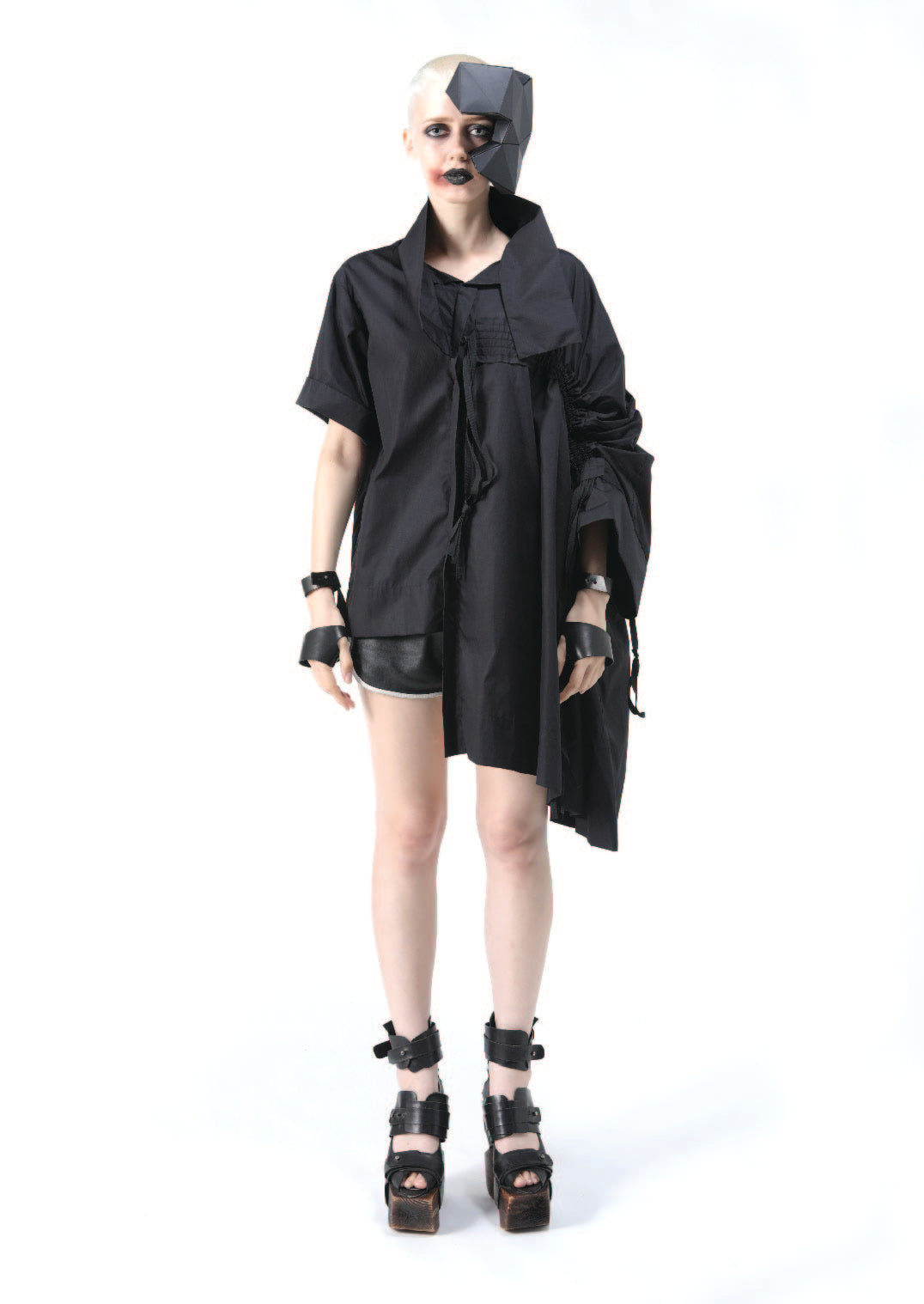 Gathered With Asymmetric Shirt