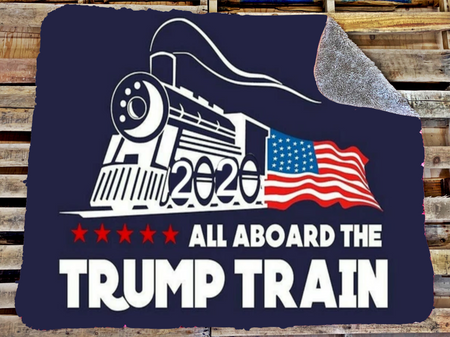 Trump train blanket